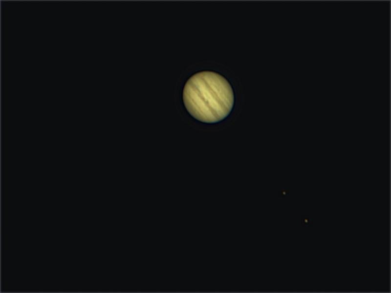 Jupiter, aufgenommen am 07.02.2015 um 21:02 Uhr.